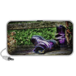 Purple Boots portable Doodle Speaker