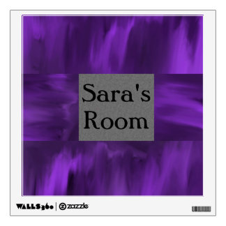 Purple border with template text Wall Decal