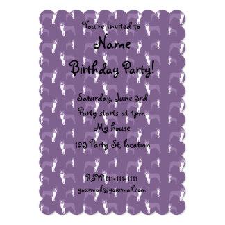Purple boston terrier 5x7 paper invitation card