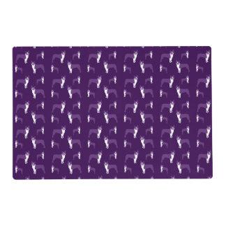 Purple boston terrier placemat