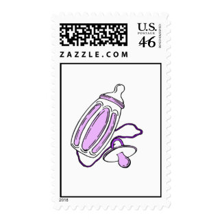 purple bottle stamps