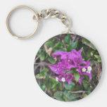 Purple Bougainvillea Photo Key Chain