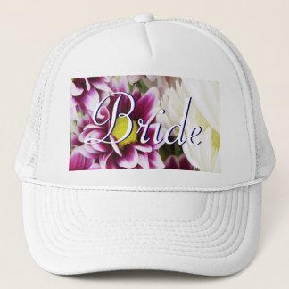 Purple Bouquet Bride Trucker Hat