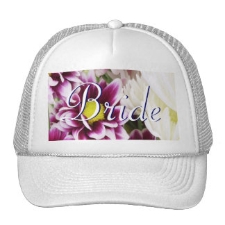 Purple Bouquet Bride Trucker Hat