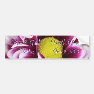 Purple Bouquet Bumper Sticker
