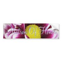 Purple Bouquet Matron Of Honor Bumper Sticker