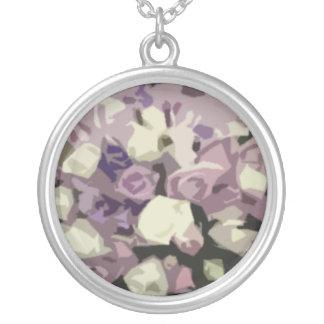 Purple Bouquet Necklace