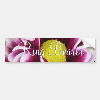Purple Bouquet Ring Bearer Car Bumper Sticker