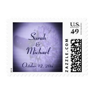 Purple Bouquet Vintage Wedding Postage Stamp