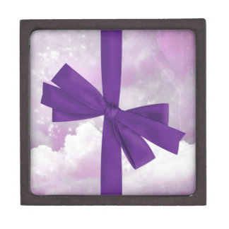 Purple bow and pink sky jewelry box