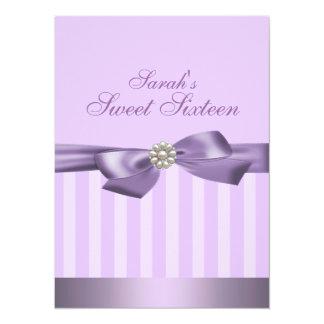 Purple Bow Birthday Invite
