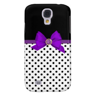Purple Bow Galaxy S4 Case
