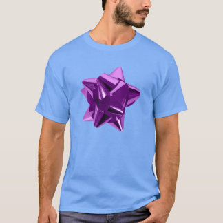 Purple Bow, Gift, Holiday T-Shirt