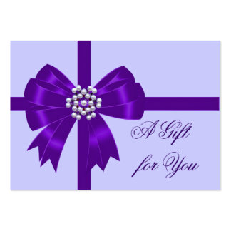 Purple Bow Lavender Purple Gift Certificates Large Business Cards (Pack Of 100)