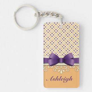 Purple Bow Lotus Yellow Flourish Orange Diamond Acrylic Key Chains