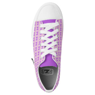 Purple Bow Pattern Low-Top Sneakers