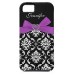Purple Bow with Print Jewels Damask iPhone Case iPhone 5 Case
