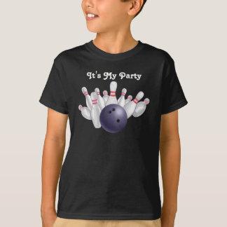 Purple Bowling Party T-Shirt