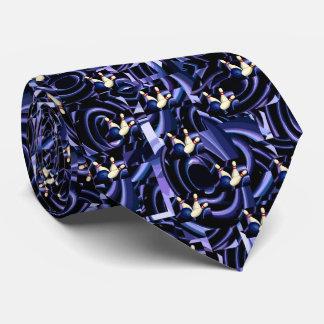 Purple Bowling Tie