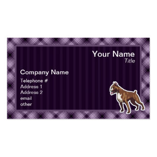 Purple Boxer Double-Sided Standard Business Cards (Pack Of 100)
