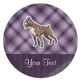 Purple Boxer Party Plates