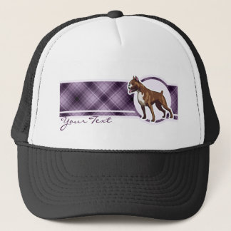 Purple Boxer Trucker Hat