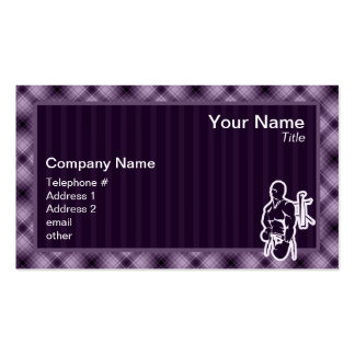 Purple Boxing Double-Sided Standard Business Cards (Pack Of 100)