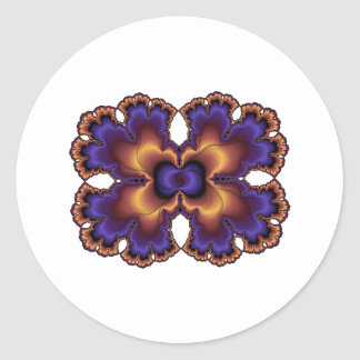 Purple Brain Freeze Classic Round Sticker
