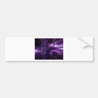 Purple Brain Neurons Bumper Sticker