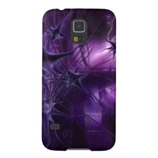 Purple Brain Neurons Galaxy S5 Case