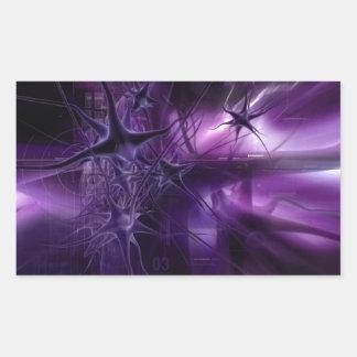 Purple Brain Neurons Rectangular Sticker