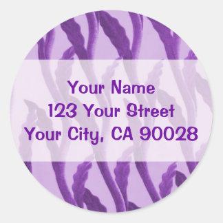 purple branches classic round sticker