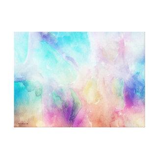 Purple Breeze Abstract Pastel Watercolors Canvas Print