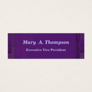 Purple Brick design Mini Business Card