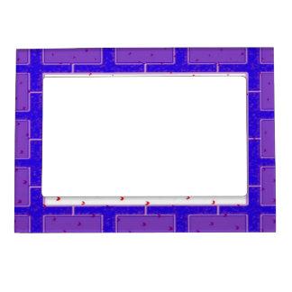 PURPLE BRICK Magnetic photo frame.