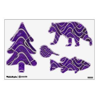 purple bricks abstract pattern wall sticker