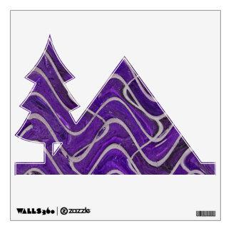 purple bricks abstract pattern room graphics