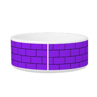 Purple Bricks Pattern Structure Bowl