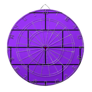 Purple Bricks Pattern Structure Dartboard With Darts