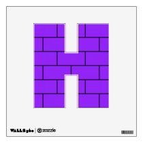 Purple Bricks Pattern Structure Wall Sticker