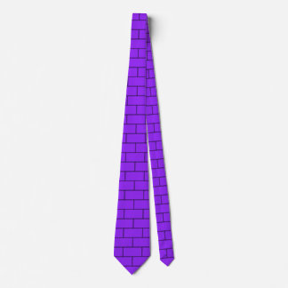 Purple Bricks Structure Pattern Neck Tie