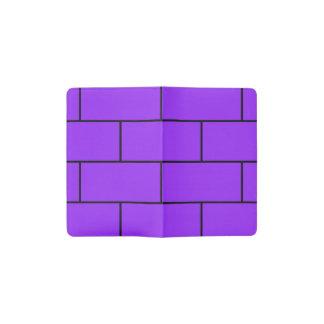 Purple Bricks Structure Pattern Pocket Moleskine Notebook