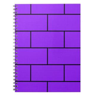 Purple Bricks Structure Pattern Spiral Notebook
