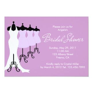 Purple Bridal Dresses Bridal Shower Invitation