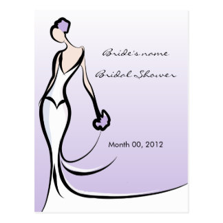 Purple Bridal Shower Advice Cards