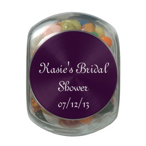 Purple Bridal Shower Candy Jar Jelly Belly Candy Jar