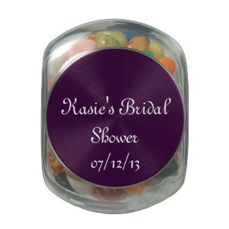 Purple Bridal Shower Candy Jar Glass Candy Jars