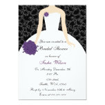 purple Bridal Shower Invitation