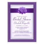 Purple Bridal Shower Invitations Invite