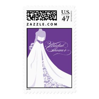Purple Bridal Shower Postage Stamp